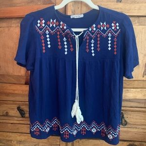 Western Embroidered Blouse